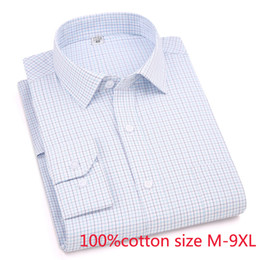 extra large men shirt NZ - New Arrival Spring Autumn Men Formal Extra Large Striped Pure Cotton Long Sleeve Shirts High Quality Plus Size M-6xl7xl8xl9xl