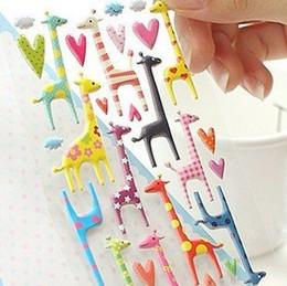 $enCountryForm.capitalKeyWord Australia - 24packs lot Kawaii elephant cat dog giraffe 3D sticker Cartoon PVC animal Decoration label Multifunction DIY stickers wholesale