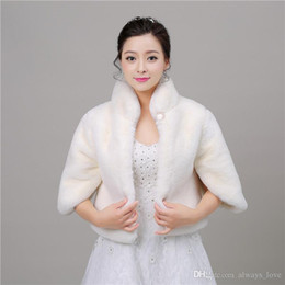 $enCountryForm.capitalKeyWord Canada - 2019 New Elegant Cheap In Stock Bridal Faux Fur Wedding Wrap Cape Shawl Jackets Coat Bolero Tippet PJ002