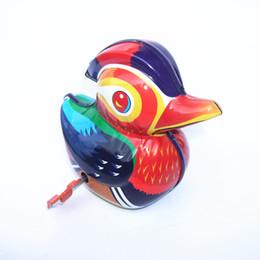 $enCountryForm.capitalKeyWord Australia - [TOP] Adult Collection Retro Wind up toy Metal Tin The bird Mandarin duck Mechanical Clockwork toy figures model kids gift