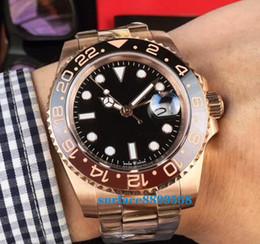 $enCountryForm.capitalKeyWord NZ - New Rose gold GMT2 V3 Version Batman mens watch automatic movement Ceramic Rotating Bezel sapphire glass steel strap wristwatch