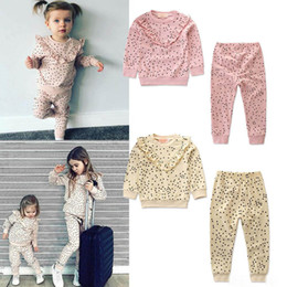 $enCountryForm.capitalKeyWord Australia - INS Kids Cotton Sleepwear Toddler girl boy tops + pants 2pcs Set Spring Autumn Polka dot Clothing for 1-6T