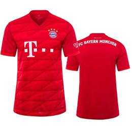 d93557a78 Top 2019 2020 Bayern Munich men home kit JAMES ROBBEN RIBERY RODRIGUEZ Soccer  jersey LEWANDOWSKI MULLER KIMMICH 19 20 HUMMELS Football shirt