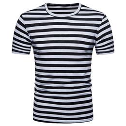 $enCountryForm.capitalKeyWord NZ - T Shirt Men Plus Size Sumer Mens T Shirt O Neck Casual Striped Tee Shirts Homme Short Sleeve Men Funny Summer 2019