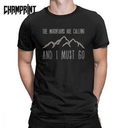 mountain tees NZ - The Mountains Are Calling T-Shirt for Men Mountains Nature Wilderness Ecology Environment Cotton Tee T Shirt Graphic