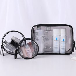 $enCountryForm.capitalKeyWord Australia - PVC cosmetics travel size   set of transparent makeup bags with transparent zipper organizer bath bags for makeup bags case