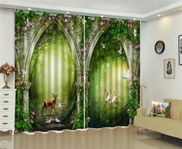 $enCountryForm.capitalKeyWord UK - 3d Curtain Fantasy Forest Linglu Flower Arches 3D Animal Curtains Living Room Bedroom Beautiful Practical Blackout Curtains