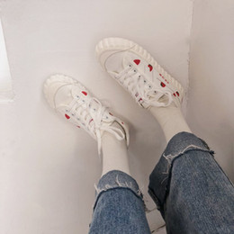 Lace Vulcanized Canvas Shoes Australia - Print Canvas Sneakers Women Casual Shoes Female Sneakers Comfortable Shoes Vulcanized Flats Chaussure Lace-up Ladies Trainers 3C 02