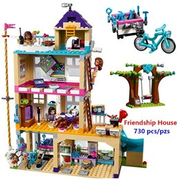 girl friends blocks Australia - New Friends Girls Series The Friendship House Set Building Blocks Bricks Kids Gifts Compatible With Lego 41340 Best Gift S200112