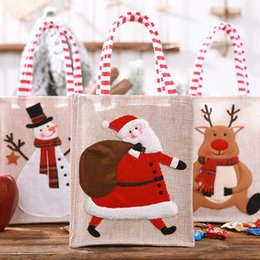 $enCountryForm.capitalKeyWord Australia - 1Pcs Santa Claus Snowman Elk Packet Christmas Gift Candy Bags Storage Supplies New Year Xmas Decor Home Party Decoration 62643