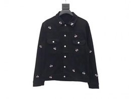Cowboys Clothes Australia - 2019 Fashion designer clothes bee embroidery Mens Jean Jacket Men Jacket and Coat Trendy Outwear Male Cowboy Jacket Clothes