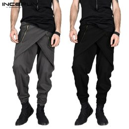 $enCountryForm.capitalKeyWord Canada - Masculina Punk Harem Pants Men Skirt Pants Male Irregular Zipper Decor Streetwear Sweatpants Slim Fit Pantalon Hombre Men Pant Y190415