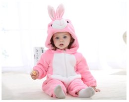 $enCountryForm.capitalKeyWord NZ - Kids Clothing Baby Rompers Ins Hot Style Childrens Clothing Spring And Autumn Flannel Bear Animal Style Climbing Clothes Baby Jumpsuits