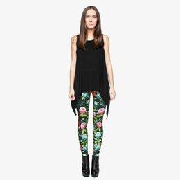 1bff02f1d7 Women Leggings Birds & Blooms 3D Digital Full Print Spring Summer Autumn  Pants Lady Full Length Pencil Fit Girls Sports Trousers (Y29514)