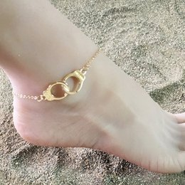 silver pearl ankle bracelet 2019 - intage Silver Color Handcuffs Anklets for Women Bohemian Freedom Ankle Bracelet on the Leg Moon Dragonfly Pendant Feet J