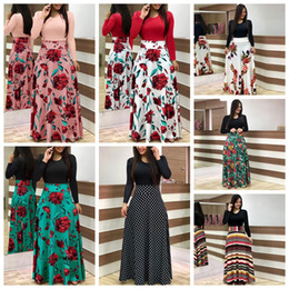 77f610ecaf Women Floral Patchwork Maxi Dress Stylish Print Dot striped Summer Casual Short  Sleeve Vintage Boho Beach Long Dress AAA2231