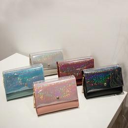 $enCountryForm.capitalKeyWord NZ - Glitter flap women crossbody wallet phone bag PU leather chain single shoulder magnet hasp small bag