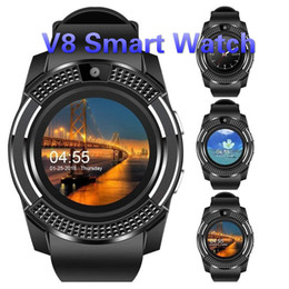 $enCountryForm.capitalKeyWord Australia - Smart Watch V8 Wristband Watch Band With 0.3M Camera SIM IPS HD Full Circle Display Smart Watch For Android System With Box