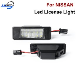 led number plate lights UK - For X-Trail JUKE Qashqai Versa NV200 Rear LED Number License Plate Light Lamp New 265108990A