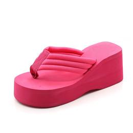 d76cf64f5 Wholesale Flip Flops Australia - Tangnest New Platform Flip Flops Women  Wedge Slippers Casual Solid Summer