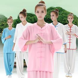 $enCountryForm.capitalKeyWord Australia - 3 4 Sleeves Kungfu Costume Women Tai Chi Clothes Martial Art Clothing Chinese Tang Suit Summer Wushu Wear Sets