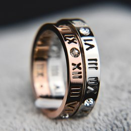 $enCountryForm.capitalKeyWord Australia - 2019 Fashion jewelry elegant temperament of hollow out lucky Roman numerals rose gold plating titanium steel ring
