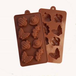 $enCountryForm.capitalKeyWord NZ - Snails, Caterpillars, Butterflies Shaped Chocolate Mold Food Grade Silicone Chocolate Mold Silicone Ice Trays Mould