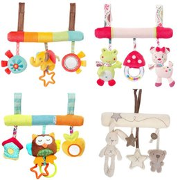 Car Mobile Crib Australia - Cute Baby Toys Infant Animal Crib Car Bed Rattles Toys Baby Seat Accessories Animal Baby Mobile Stroller Toys Plush Playing Doll