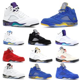 mens snow sneakers 2020 - 2019 Men 5 5s Basketball Shoes Bred Laney Blue White Fresh Prince Grape International Flight Mens Athletic Trainer Sport