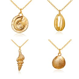 ConCh pendants online shopping - 2019 Boho Conch Shell Necklace Conch Sea Shell Necklace Pendant For Women Collier Femme Cowrie Summer Jewelry