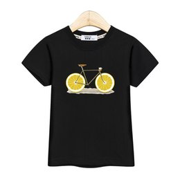 $enCountryForm.capitalKeyWord UK - Fashion America kids tops short sleeve boy shirt lemon bike design baby girl t-shirt USA summer cotton tees kid print