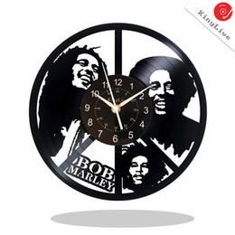 """12 Cm Fan UK - Bob Marley Vinyl Record Wall Clock Fan Art Handmade Decor Unique Decorative Vinyl Clock 12"""" (30 cm)"""