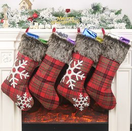 $enCountryForm.capitalKeyWord Australia - New Christmas Stockings Decor Christmas Trees Ornament Party Decorations Santa Christmas Stocking Candy Socks Bags Xmas Gifts Bag