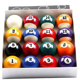 Ensemble complet de boules de billard standard de 16 x 57,2 mm en résine, petites balles de billard