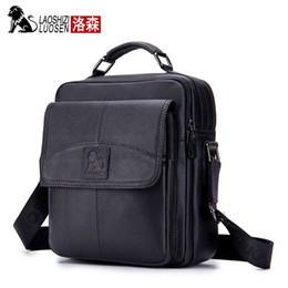 genuine leather man bag small Australia - Men Bag Male Shoulder Fashion Crossbody Genuine Leather Messenger Small Oil Wax Casual Style Flap Business Travel Handbags Gift