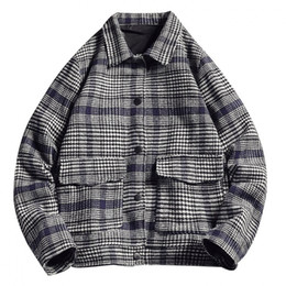 Wholesale long coat styles men for sale – custom Mens Winter Coat Jacket Casual Large Size Plaid Casual Jacket Fashion Style Mens Jackets with Colors Plus Size Asian M XL