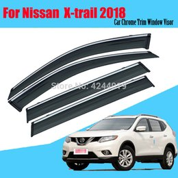 $enCountryForm.capitalKeyWord NZ - Car Awnings Shelters Window Visors Sun Rain Shield Sticker Cover Plating Chrome Trim Auto Accessories For Nissan X-Trail 2018