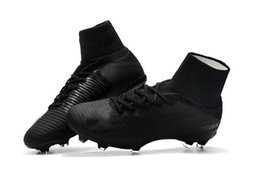 $enCountryForm.capitalKeyWord Australia - Arrival New Full Black Soccer Cleats Mercurial Superfly Soccer Shoes High Ankle Cristiano Ronaldo Mens Football Boots