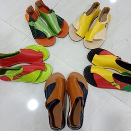 Lace Peep Toe Flats Australia - EOEODOIT Women Flats Summer Sandals Peep Toe Flat Heel Leather Patchwork Shoes Plus Size Thong Sandals Cozy Leather Shoes