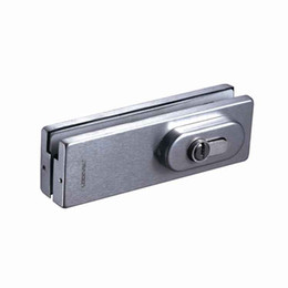 Security Glasses Wholesale Australia - 304 Stainless steel Glass Door Fitting Bottom Lock Patch Fitting pivot frameless door clamp handle key security lock for temper glass door