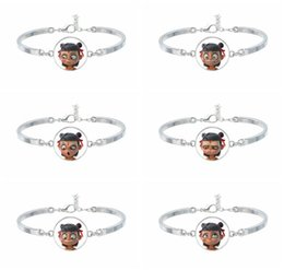 $enCountryForm.capitalKeyWord Australia - Hot Magical Child Pattern Alloy Bracelet Glass Charm Jewelry Party Home Decoration Kids Pretty Gifts Free Shipping