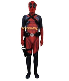deadpool costume xxl Australia - Cosplay Costume lycra Spandex Zentai Tight kids adult 3D printed Deadpool 2 Avengers Tights