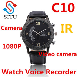 Discount mp3 voice recording watch C10 Watch Voice Recorder Audio Rechargeable Dictaphone MP3 Player Mini Recording Pen Recorder For Business hot proudcts