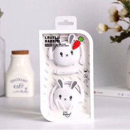 Mic earphones cartoon online shopping - Hanging Mobile Phone With Mic mm Cartoon Sports Stereo Earphone Women Cute Rabbit Noise Cancelling Comfortable Ear Hook Gift