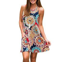 $enCountryForm.capitalKeyWord Australia - Women Floral Print Short Sleeve Boho Dresses Evening Gown Party Maxi Dress Summer Sundress Party Beach Dress Short Chiffon Women's Clothing