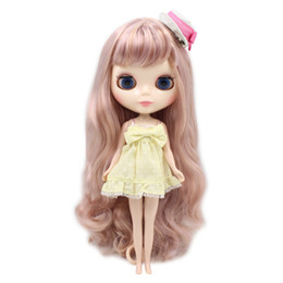 Chinese  fortune days factory blyth doll golden mix Violet hair with bangs normal joint body shiny face 1 6, gift for girl BL2240 1049 manufacturers