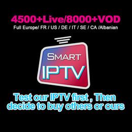 Melhor Assinatura IPTV Global 6000 + TV AO VIVO E VOD Para A França REINO UNIDO Itália Alemanha Abono Iptv Suporte M3U Caixa Mag Smart TV TV CAIXA venda por atacado