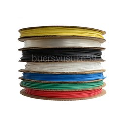 cable diameter Australia - 200M Diameter 1mm Heat Shrink Tube Electrical Sleeving Cable Heat Shrinking Tubing Yellow Blue Green White Red 2:1 Shrinkable Ratio