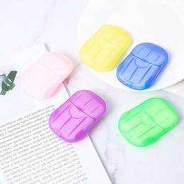 Papel de jabón en caja desechable Portátil de aromaterapia de lavado a mano Travel Mini caja de jabón anti bacteriano Hoja de jabón Accesorios de baño en venta