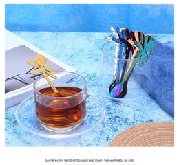 Coffee Cup Cafe online shopping - Colorful Dragonfly Spoon Stainless Steel Coffee Spoon Teaspoon Hanging Cup Design Spoon Bar Cafe Hotel Kitchen Tableware